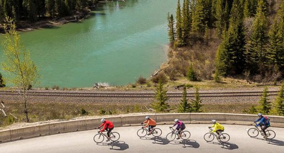 Jasper to Banff bike tour
