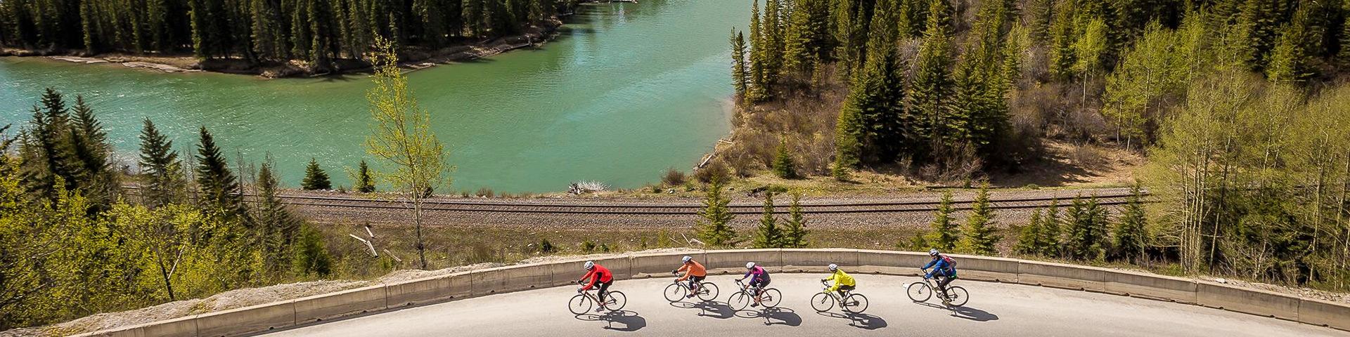 Jasper to Banff bike tour