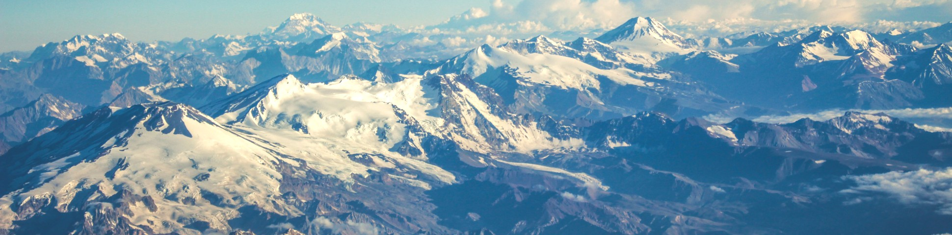 Panoramic view of Chilean Andes