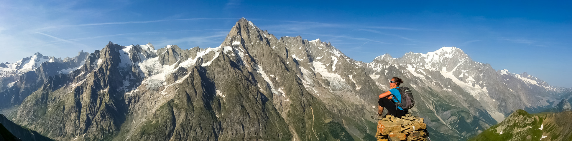 Panoramic view from Tour du Mont Blanc in Guesthouses Tour