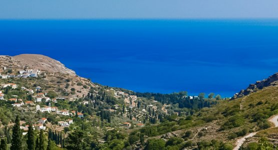 Panoramic view from Authentic Greek Islands Hiking on Andros and Tinos