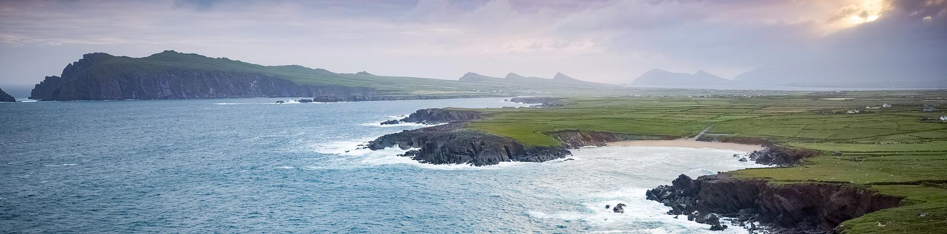 Panoramic views from Kerry Peninsulas Biking Tour