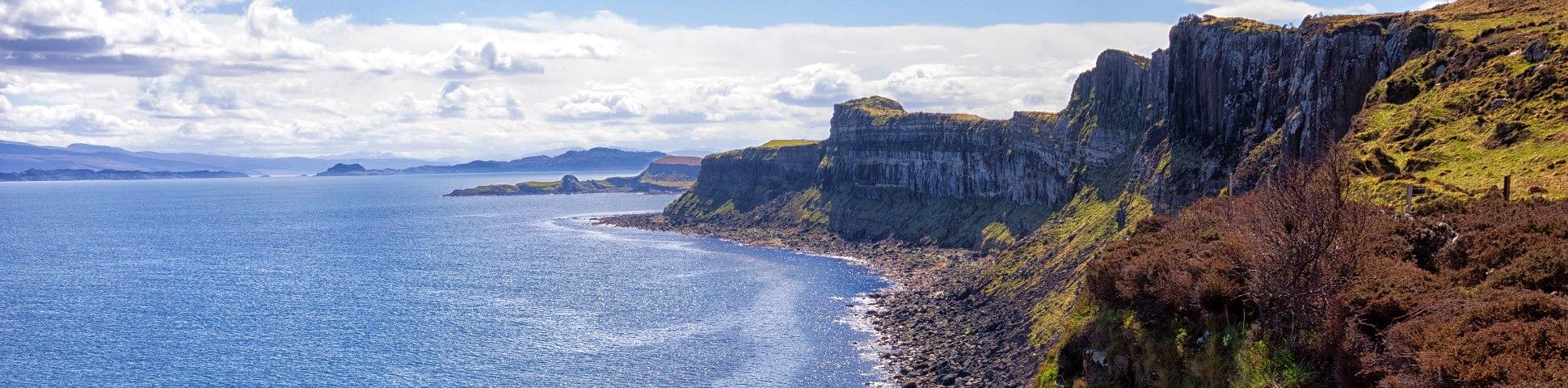 Rugged shores of Scottish Isles