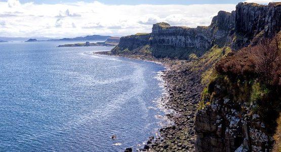 Rocky shores of Scottish Isles