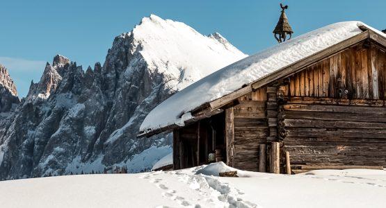 Panoramic view from Dolomites Hut to Hut Hiking Tour