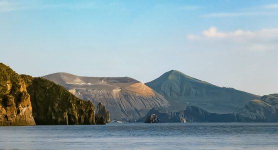 Panoramic view from Sailing and Hiking in the Aeolian Islands