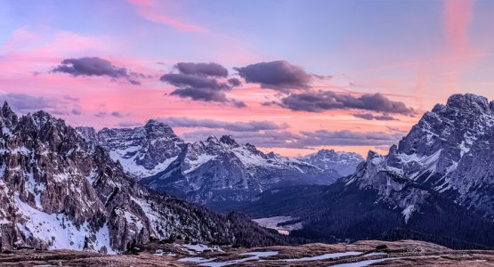 Panoramic view from Self-Guided Hiking in the Dolomites