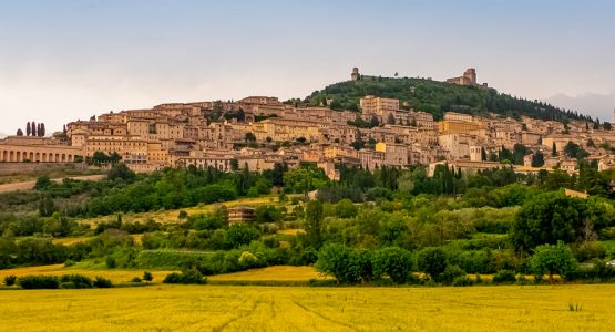 Panoramic views from St. Francis Way Assisi to Spoleto Walking Tour