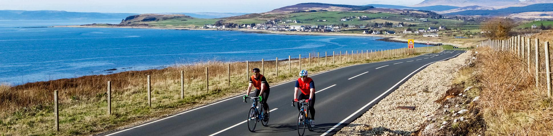 Panoramic views on Arran, Islay, and Jura Road Cycling Tour