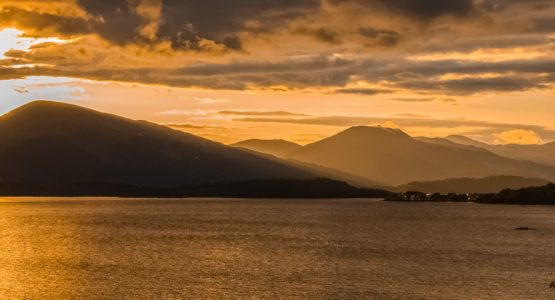 Panoramic views from Loch Lomond and Cowal Way Walk
