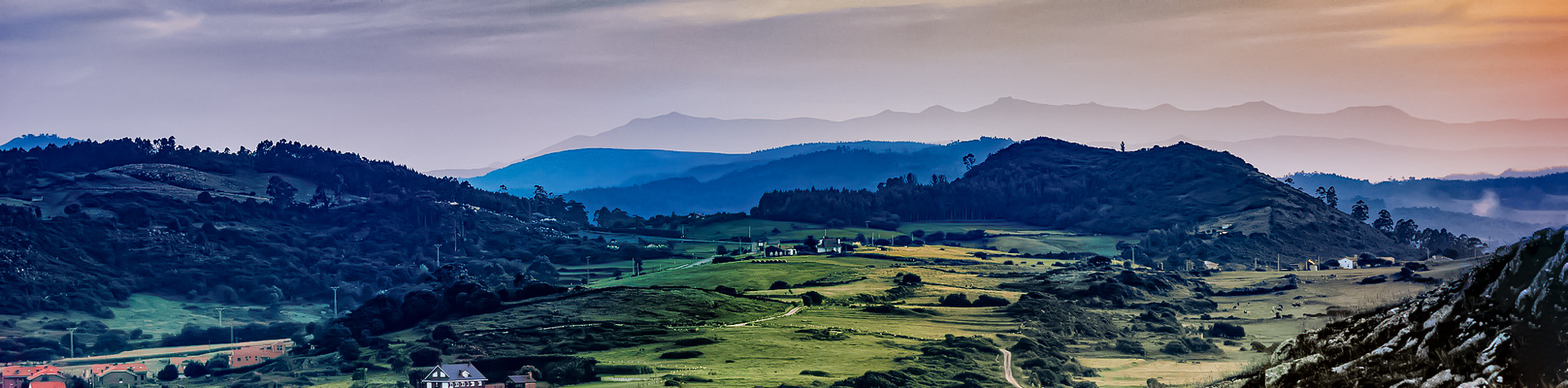 Panoramic view from Camino de Santiago Northern Way Tour