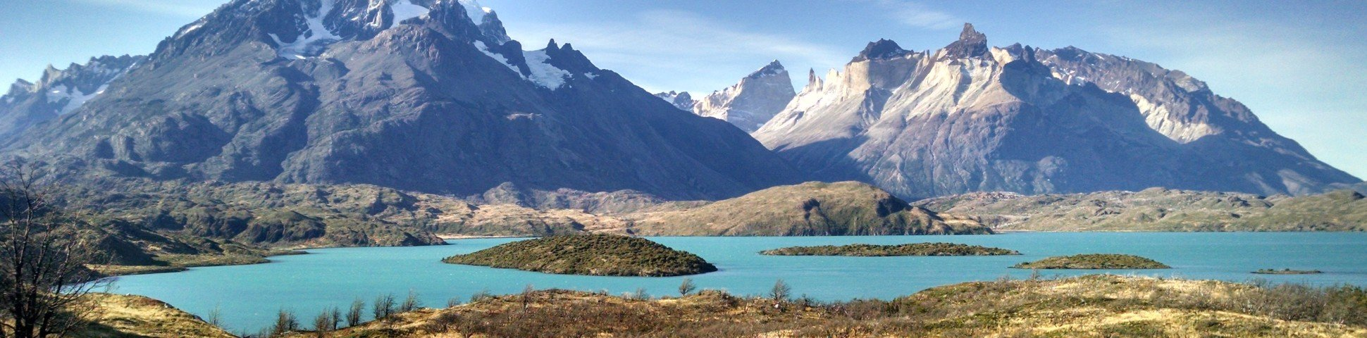 Beautiful turquoise lake in the Torres del Paine National Park (Chile)