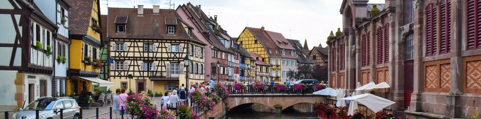 Beautiful village in Alsace-Lorraine region