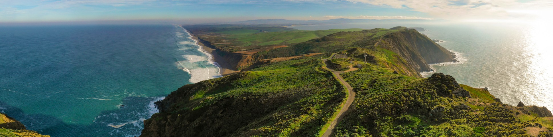 Panoramic view of Point of Reyes in California