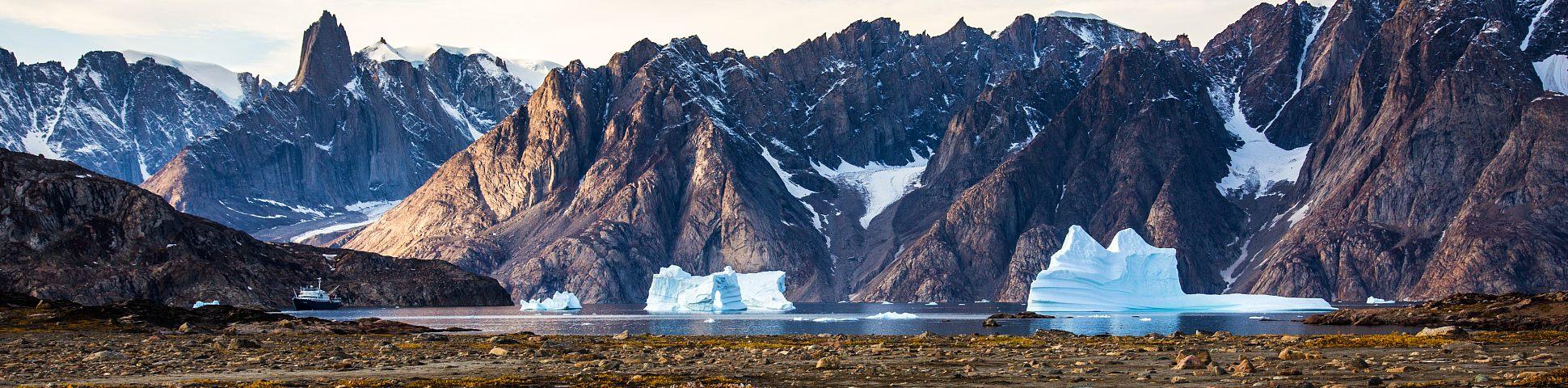 Icebergs along the coast of East Greenland
