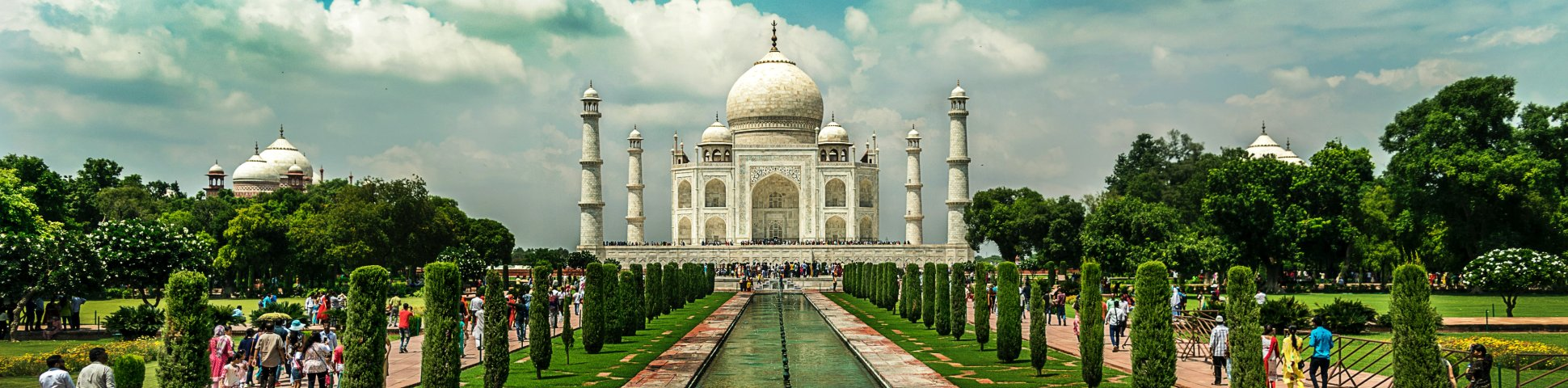 Panoramic view of Taj Mahal