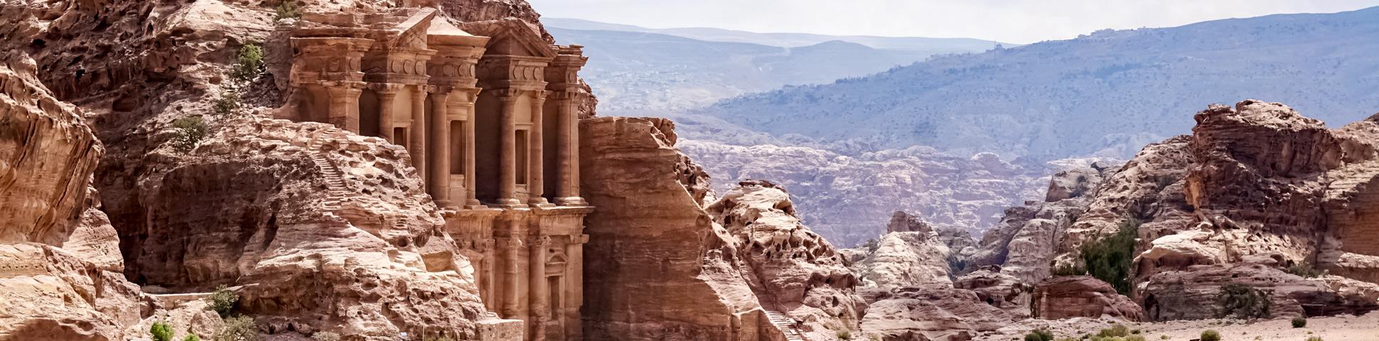 Panoramic view from Guided Dana to Petra Trek
