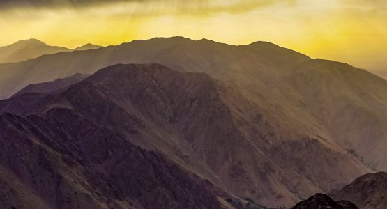Panoramic views from Mount Toubkal Summit Trek