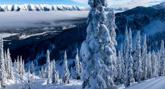 Panoramic views from 9-Day Rocky Mountain Skiing Tour