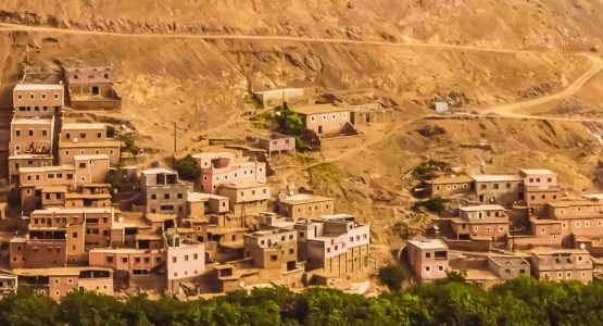 Panoramic view from Villages, Valleys, and Toubkal Trek