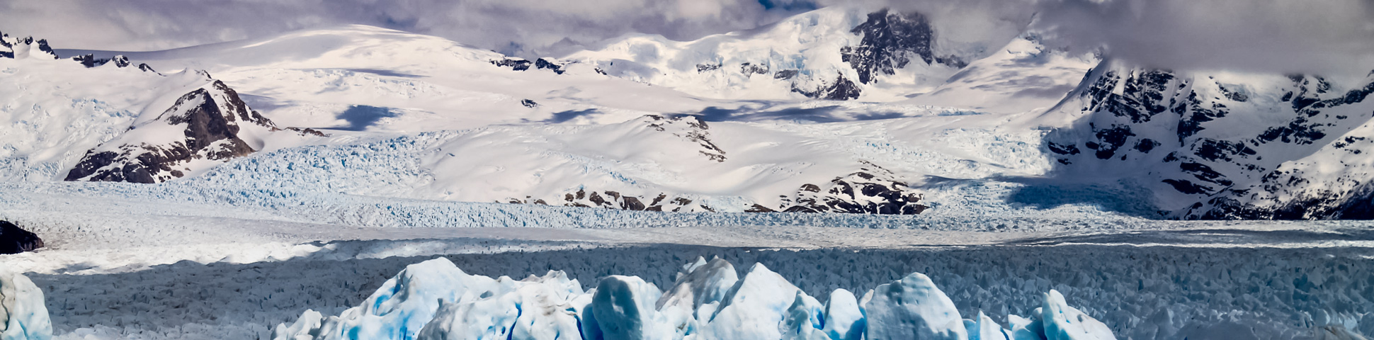 Panoramic view from Patagonia Ice Field Trek