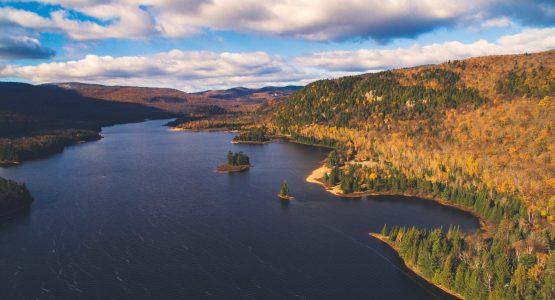Laurentian Mountains in Canada