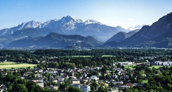 Mountains surrounding Salzburg