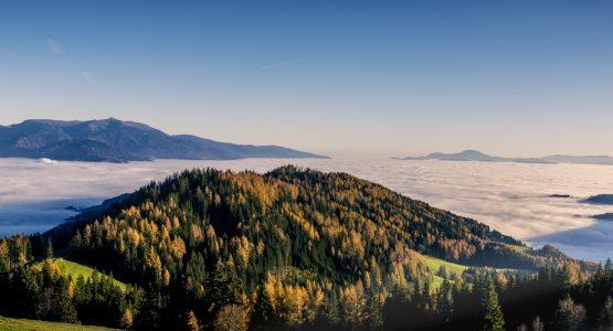 View above the clouds in Carinthia (Austria)