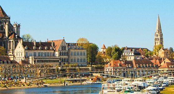 Beautiful Burgundian architecture in France