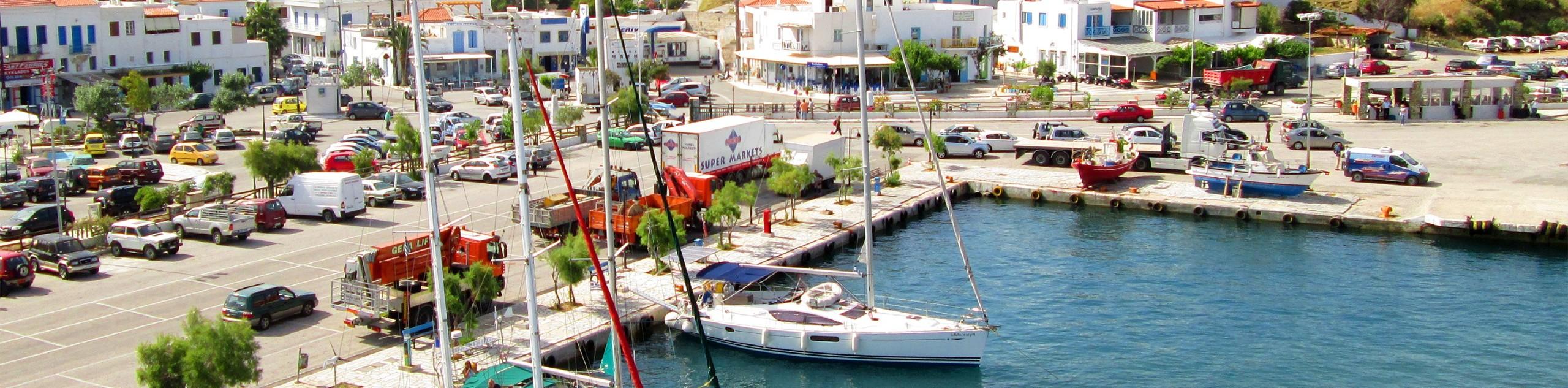 Beautiful marina in Andros