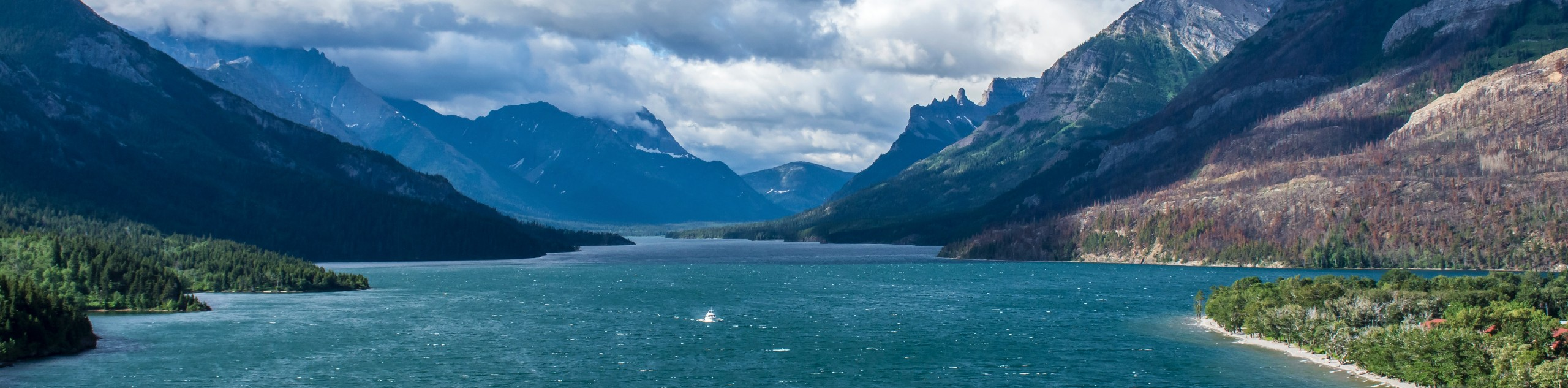 Cloudy day over Waterton Lakes