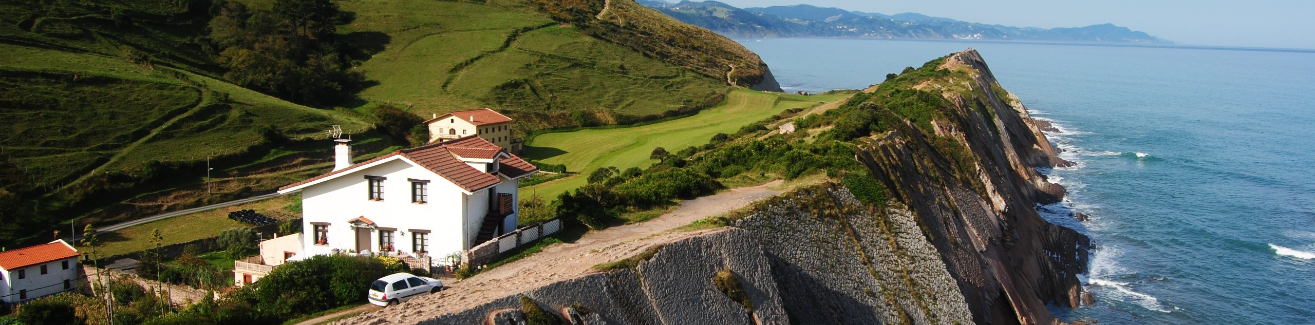 Rugged coastline at Basque country in Spain