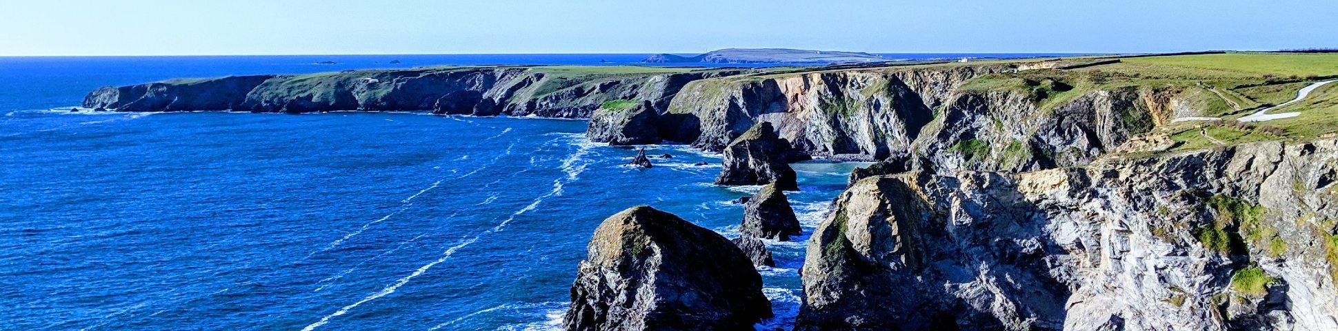 Rugged coastline of South West England