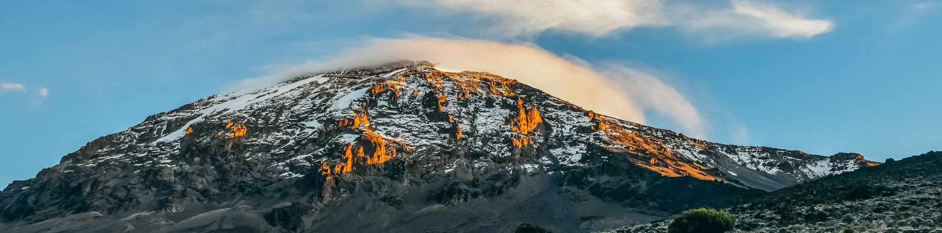 Panoramic views from Mount Kilimanjaro on Lemosho Route