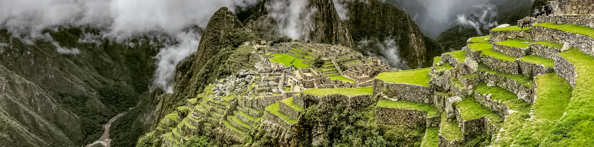 Panoramic view from Lares Trek including Machu Picchu Tour