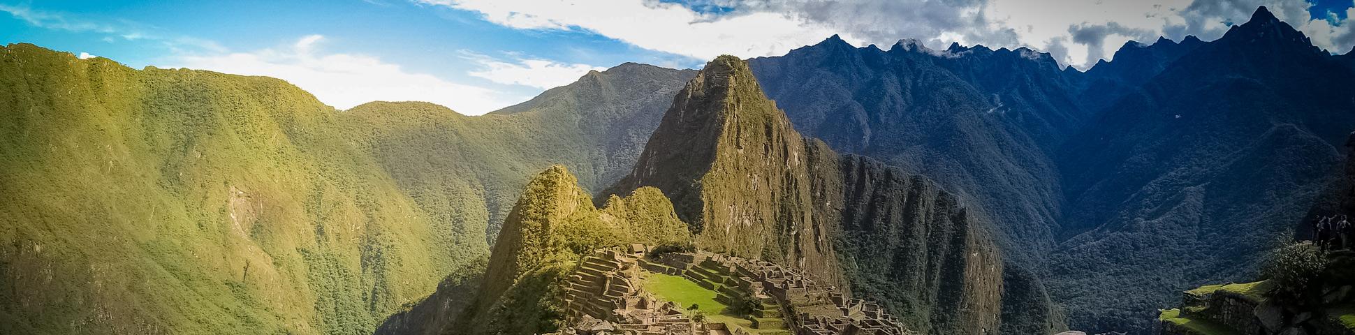 Panoramic view from Salkantay Trek to Machu Picchu
