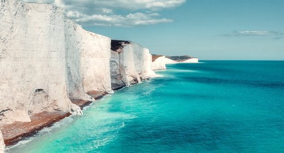 White cliffs at south England
