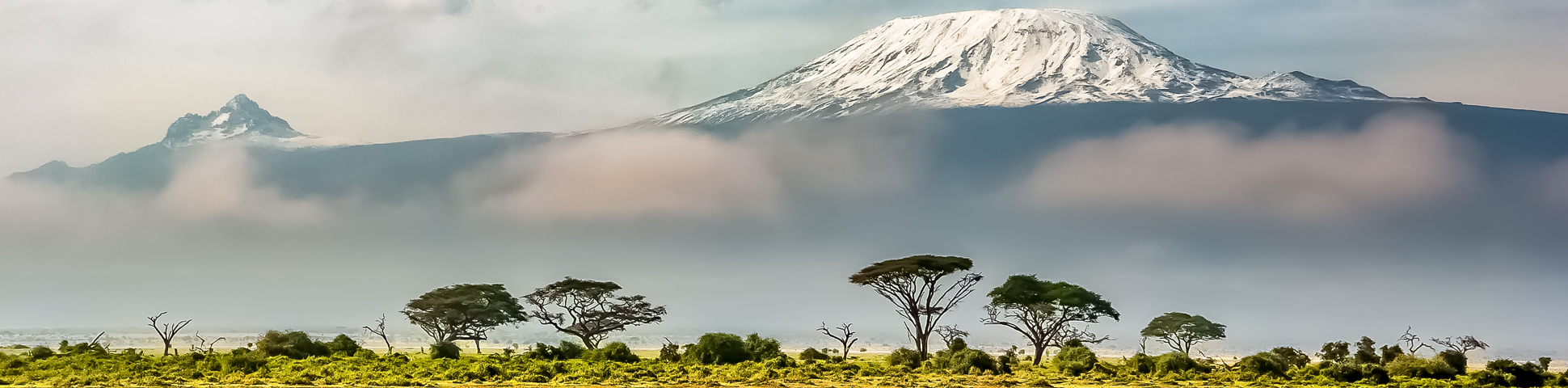 Panoramic view from Mount Kilimanjaro on Lemosho Route (slower pace) Tour