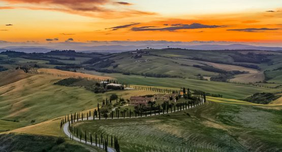 Panoramic views from Tuscany Cycling through the Val d'Orcia Tour