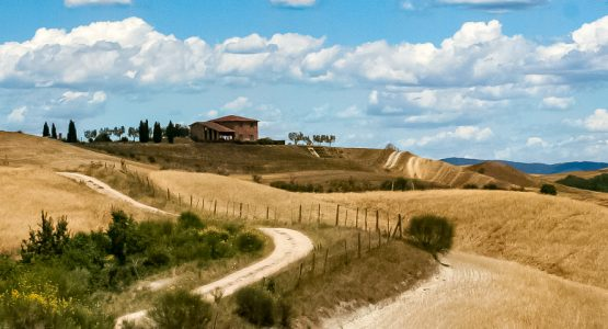 Panoramic views from Tuscany Val d'Orcia Cycling Tour