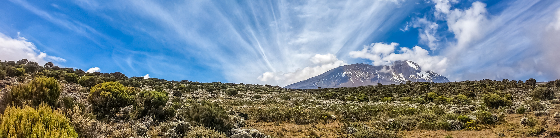 Panoramic view from Mount Kilimanjaro on Machame Route Tour