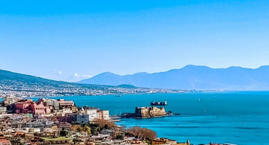 Panoramic views from Vesuvius, Amalfi & Naples Walking Tour
