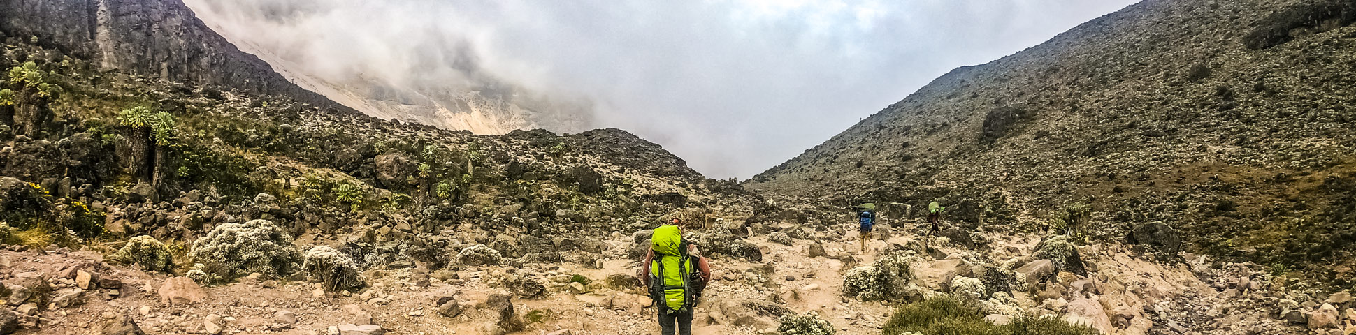Panoramic views from Mount Kilimanjaro on Machame Route (slow)
