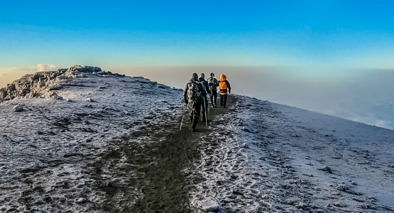 Panoramic view from Mount Meru Trek