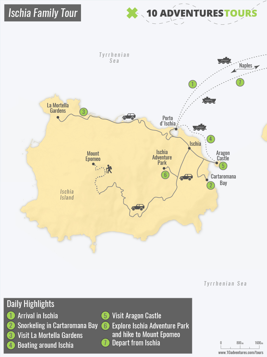 Map of Ischia Family Tour