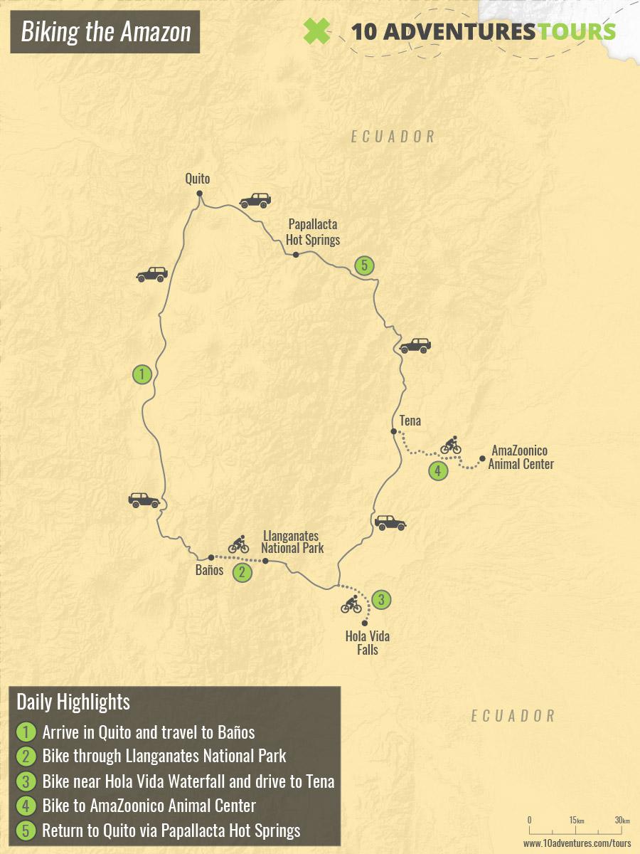 Map of Biking the Amazon