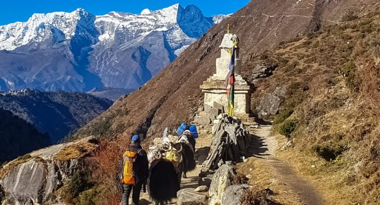 Panoramic view from Annapurna and Everest Luxury Lodges trekking tour