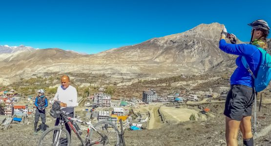Panoramic views from Annapruna Circuit by Bike