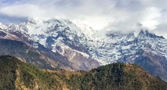 Panoramic view from Annapurna Luxury Lodge Trek