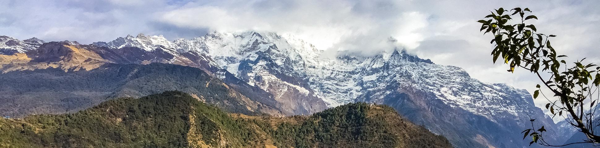 Panoramic view from Annapurna Luxury Lodge Trek
